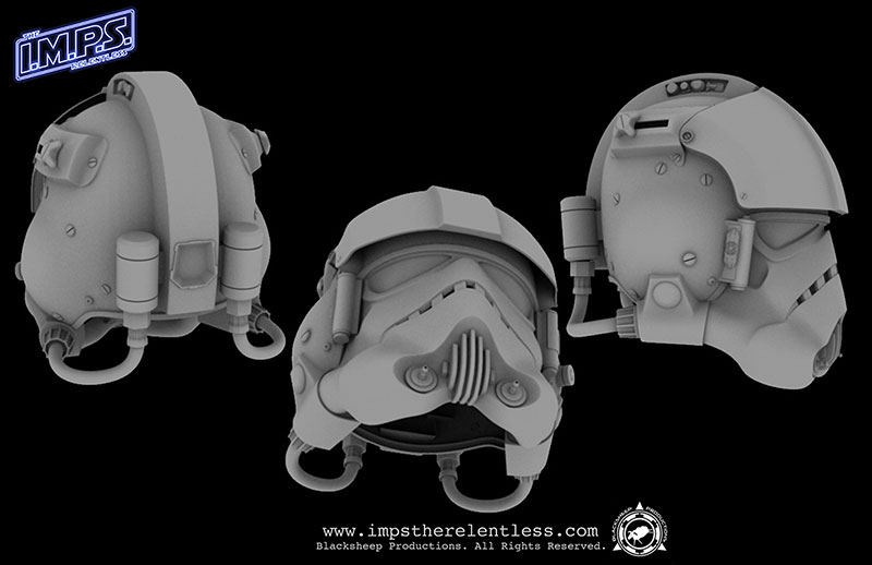 Blacksheep Flight Helmet CG Model